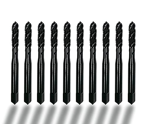 DelitonGude Metric M3 Machine Screw Tap 10 pcs 5% Cobalt Spiral Flute Drill Taps Thread Tapping Tool(M3)