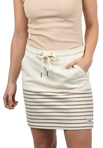 DESIRES Pippa Damen Kurzer Rock Sweatrock Minirock Mit Streifen-Muster Aus 100% Baumwolle, Größe:L, Farbe:Simple Taupe (0162)