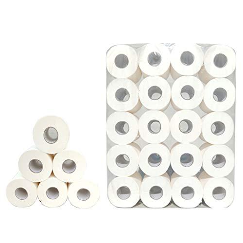 20 Rollen Toilettenpapierrolle 4-lagig Toilettenpapier Masse Zellstoff Hotel Side Use Hohlrollenpapier Haushalt erschwinglich ZHANGGUOHUA (Size : 20 Rolls)