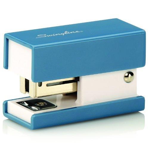 Swingline Mini Fashion Stapler, 12 Sheets, Blue (S7087872)