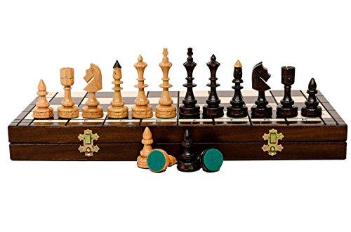 Hermoso juego de ajedrez de madera de cerezo dulce de lujo INDIAN DELUXE de 48 cm / 18 pulgadas, juego clásico hecho a mano