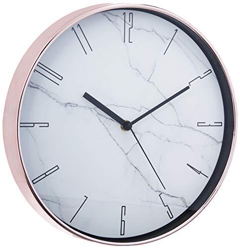 Relógio de Parede Marmorizado, Mart, Branca