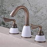 GUOCAO Baño Retro europeo caliente y fría mezclada de agua de tres piezas...