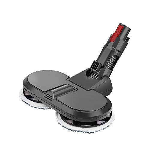 MoPei Accesorio de Cabeza de mopa eléctrica para aspiradora Dyson V7 V8 V10 V11(Gris)