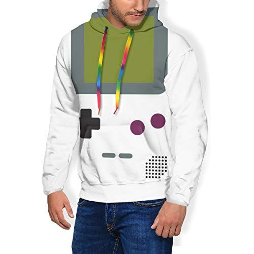 Gameboy Herren Fashion Sweatshirt Hoodie Kapuzenpullover Taschen Plus Samt Gr. XXXL, Schwarz