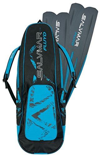 SALVIMAR Fin Bag, Borsa Porta Pinne Unisex Adulto, Nero/Blu, Unica 10+15x25x115cm