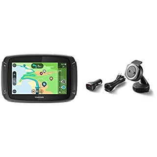 TomTom Motorcycle Sat Nav Rider 500, Updates via Wi-Fi, Compatible with Siri and Google Now, Lifetime Traffic and Speed Cams, EU Maps + Car Mount for TomTom Rider Motorcycle Navigation , Black (B07BMHFMVY) | Amazon price tracker / tracking, Amazon price history charts, Amazon price watches, Amazon price drop alerts