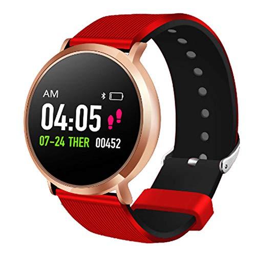 LTLGHY Smartwatch, Reloj Inteligente Impermeable IP68 Pulsera De Actividad Inteligente con Monitor De Sueño Contador De Caloría Pulsómetros Podómetro para Hombre Mujer,Oro