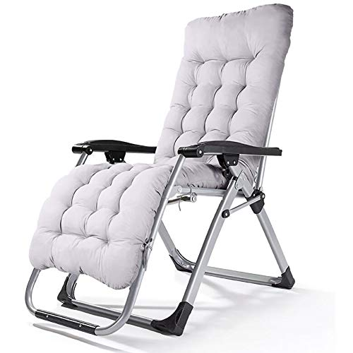 Coussin Bain de Soleil Antidérapant pour Lounge Chaise Transat de Jardin Fauteuil Outdoor Thicker Fauteuil de Coussin Chaise à Bascule (Taille: 165X50CM, sans Chaise),Gray