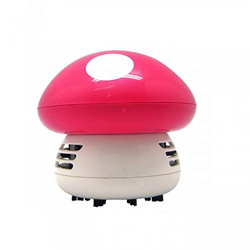 Check Out This joyMerit Portable Cartoon Mini Pink Mushroom Table Dust Vacuum Cleaner Table Cleaning...