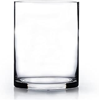 STARSIDE 3 Pack Clear Glass Cylinder Vases Table Flowers Vase,for Wedding Decrations and Formal Dinners 8 Inch