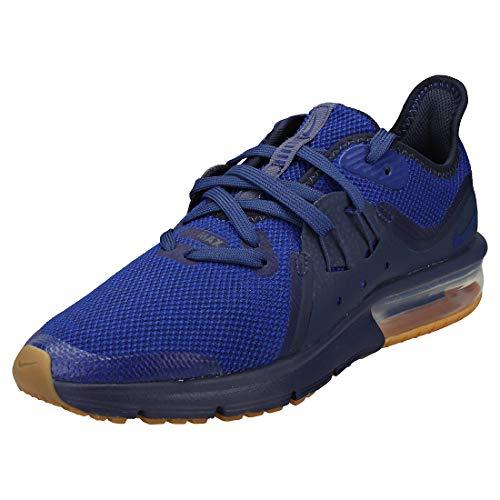 Nike Air Max Sequent 3 (GS), Scarpe da Ginnastica Basse Bambino, Multicolore (Obsidian/Deep Royal Blue/Neutral Indigo 001), 40 EU