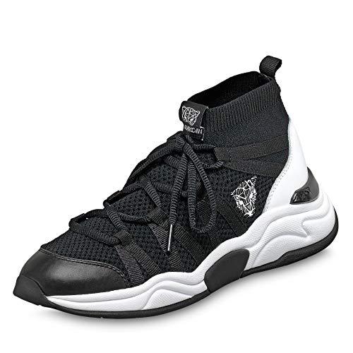 Marc Cain MB SH.79 M12 910 Damen modischer Sneaker aus Textil Wechselfußbett, Groesse 39, schwarz