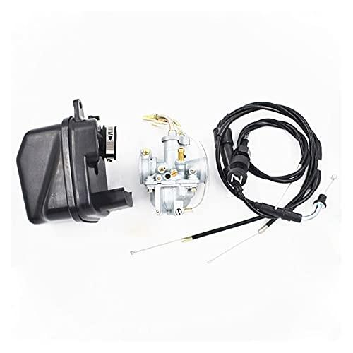 MINGYUYUYY Carburador FIT FOR para Yamaha Y Zinger PW 50 PW50 UK 23mm Enchufe del Filtro de Aire del carburador de carburador Cable de estrangulador y Cable de estrangulador de 21 mm Adecuado