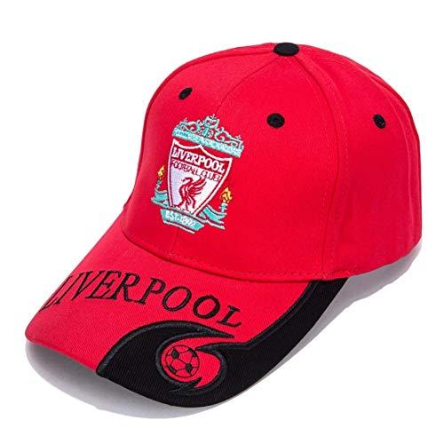 FHHYY Gorra Personalizado Negro/Rojo Bordado al Aire Libre Ajustable Hombres Gorra de béisbol para fanáticos del fútbol Orden al por Mayor Bienvenida,A