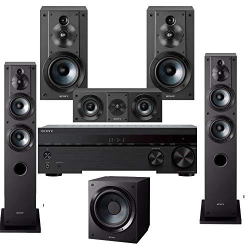 Best Price! Sony STRDH590 5.2ch 4K AV Receiver with Complete 5.2 Surround Sound System