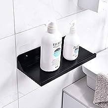 Plastic Storage Rack Super Toiletries Muur Shelf Multifunctionele Badkamer Mobile Phone Holder Opslag Planken (Color : Black)