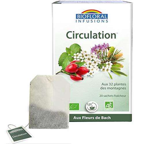 BIOFLORAL - Infusion Bio Circulation Digestion Bien-être - 20 sachets