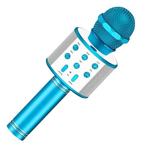 Girl Toys Age 4-12, Wireless Portable Handheld Bluetooth Karaoke Microphone for Boys Girls Kids Best...