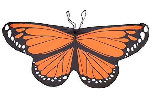 CISMARK Fairy Butterfly Wings Costume for Girls Dress Up Orange