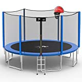 Kangaroo Hoppers 15 FT Trampoline for Kids and Family, Come with Enclosure Net,Basketball Hoop and Ladder,TUV & ASTM Tested -2020 Upgraded