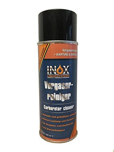 INOX® Vergaserreiniger Spray, Reiniger für Vergaser, Leerlaufventile und Drosselklappen - 400 ml
