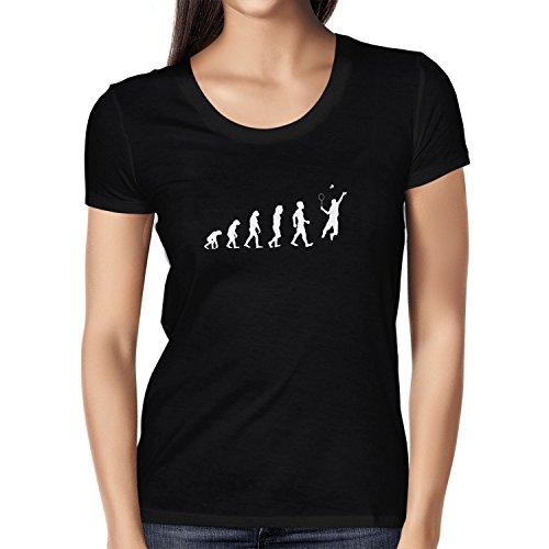 Texlab Badminton Evolution - Damen T-Shirt, Größe S, schwarz