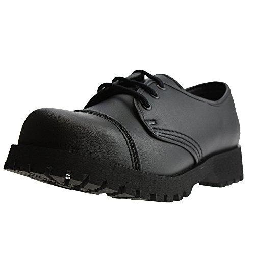 Boots & Braces - 3-Loch Vegetarian (Vegi) Schuhe Schwarz Größe 44 (UK10)