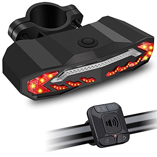 NineLeaf Fahrradalarm mit Fernbedienung, 110db lauter Anti-Diebstahl Fahrradalarm mit elektrischer Glocke, USB wiederaufladbare Sicherheitswarnung Radfahren Alarm 7 Stufen Empfindlichkeit