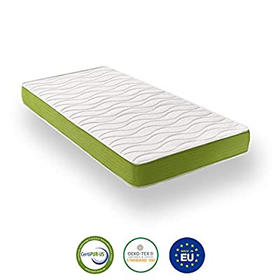 ZenPur Single Mattress Memory Foam + Blue Latex - Breathable SuperStretch 3D Fabric with Aloe Vera - Thickness 21 cm - 90 x 190 cm Single Bed - 2 Years Warranty