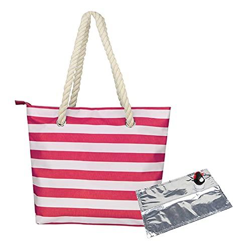 LPOQW Bolsas de playa de lona para vino con compartimento oculto aislado, bolsa de vino, bolsa de playa, estilo informal, para fiestas al aire libre, playas, color rojo