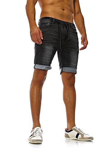 Sweat Jeans Denim Jogger Shorts Sommer Kurze Hose Sublevel 98-86 dunkelblau schwarz W32