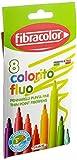 Fibracolor Colorito Fluo confezione 8 pennarelli con inchiostro fluorescente punta fine superlavabili