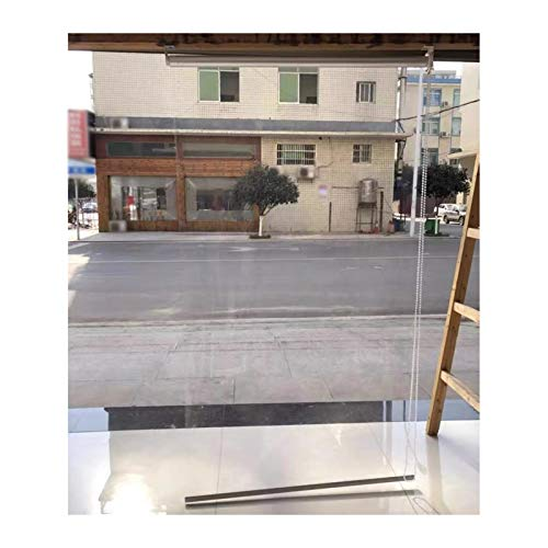 Tonos de rodillos transparentes / Persianas, Puerta / Windows Cortina de partición PVC, 0.5mm de espesor impermeable Pérgola Panel lateral a prueba de viento a prueba de viento para exteriores / de in
