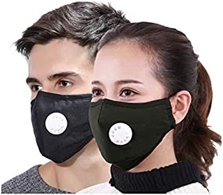 Xtore PM 2.5 Ultra-Comfortable Anti Pollution Mask | Military Grade Quality | Breathing Valve | Anti Dust - Prevents Particulate matter,Allergy/Asthma/Virus/Flu | Premium Quality - (Pack of 2)