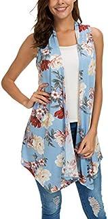 Women's Sleeveless Draped Open Front Cardigan Vest...