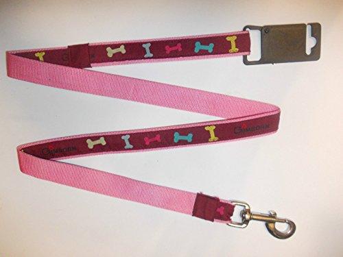 Gimborn hondenriem met fijn patroon in roze fuchsia