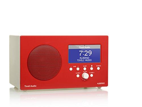 Tivoli Audio Albergo - Bluetooth-fähiger MW/UKW Digitalradio - Glossy Red/White
