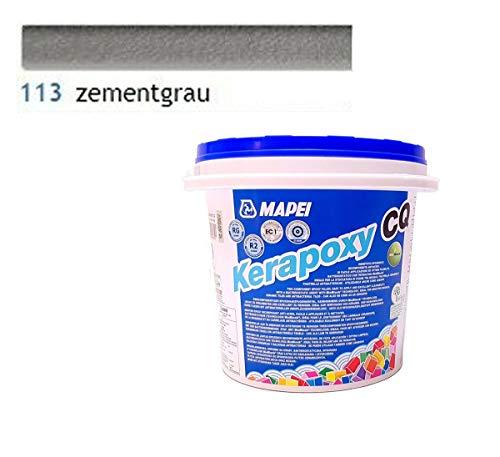 MAPEI Kerapoxy CQ Epoxidharz Fugenmörtel Fliesen Mörtel Fugen Epoxi 3 KG (Nr 113 Zementgrau)
