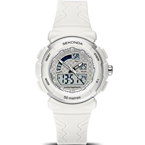 SEKONDA Womens Digital Quartz Watch with Plastic Strap 2424.27