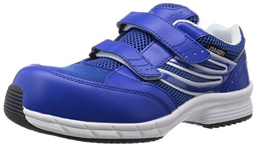 [ミドリ安全] 安全作業靴 JSAA認定 静電気帯電防止 耐滑 マジックタイプ プロスニーカー SLS705 静電 メンズ ブルー 24.5 cm 3E