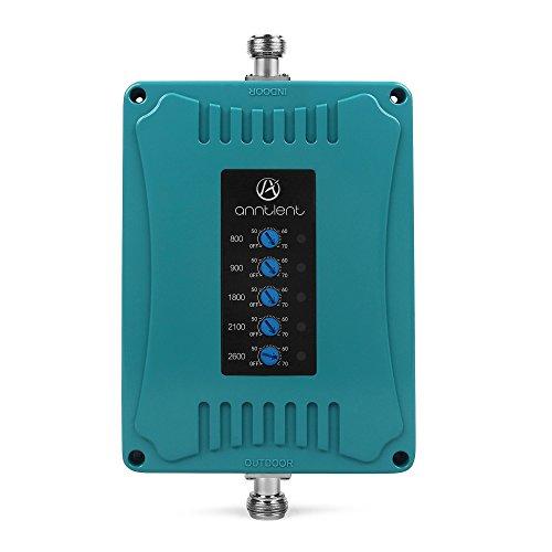 ANNTLENT Amplificador Señal Movil 2G 3G 4G LTE 5-Banda Amplificador gsm 800/900/1800/2100/2600MHz Repetidor Señal Movil Mejorar la Red y Llamar para el Hogar/Oficina