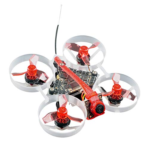 HAPPYMODEL Moblite6 Indoor Ultra Light Quadcopter 1S 65mm Four-axis Whoop FPV Racing Drone BNF with F4 Flight Controller 19000KV Motors 800TVL Camera (Receiver for Flysky Version)