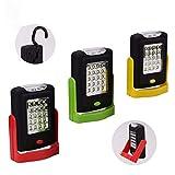 Linterna portátil portátil de 23 LED para Acampar con luz de Trabajo magnética, lámpara de Bolsillo con Gancho Colgante Plegable para Pesca, Senderismo al Aire Libre