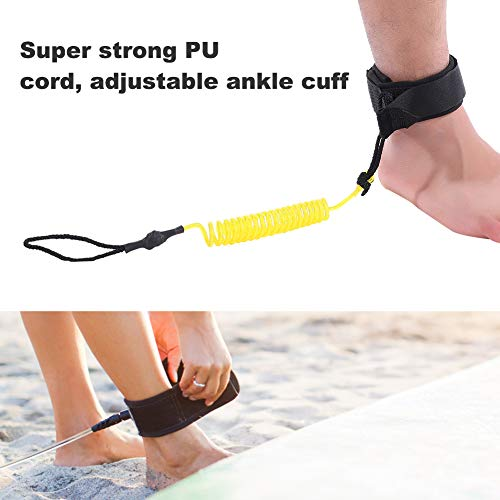 YLX Surfboard Leash Stand Up Paddle Board Ankle Strap with Waterproof Mobile Phone Case