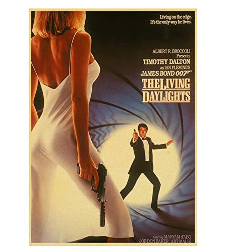 PCWDEDIAN Vintage James Bond Filmplakat 007 Retro Leinwand Wandplakat Für Zuhause/Raum/Bar Gemälde Wanddekoration F135 42X30Cm