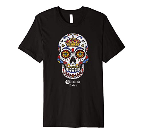 Corona Extra Sugar Skull Premium T-Shirt