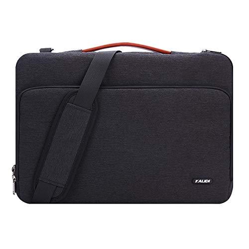 KALIDI 15 Zoll Laptoptasche Aktentaschen Handtasche Tragetasche Schulter Tasche Notebooktasche Laptop Sleeve Laptop hülle für bis zu 15.6 Zoll Laptop Dell Alienware/MacBook/Lenovo/HP (Schwarz#1)