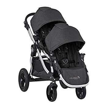 Baby Jogger City Select Double Stroller | Baby Stroller with 16 Ways to Ride Included Second Seat | Quick Fold Stroller Jet