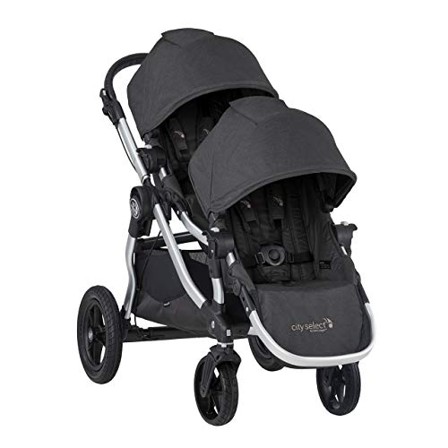 Baby Jogger City Select Double Stroller | Baby Stroller with 16 Ways to Ride, Included Second Seat | Quick Fold Stroller, Jet